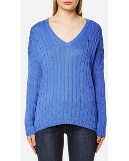 Women's Vneck Side Slit Jumper