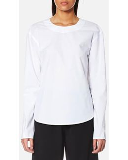 Women's Extra Long Sleeve Shirt With Open Back And Tie Closure