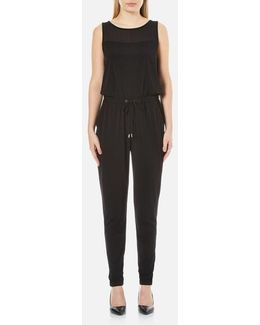 Women's Drawstring Tapered Jumpsuit