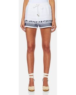 Women's Embroidered Shorts