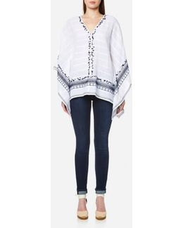 Women's Embellished Poncho