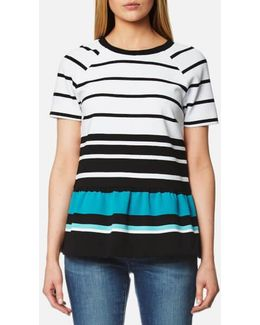 Women's Stripe Peplum Top
