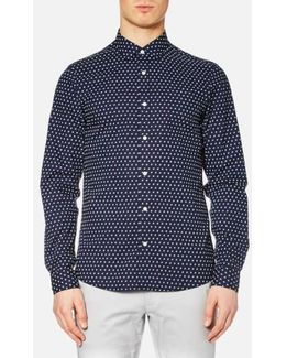 Men's Slim Finn Print Long Sleeve Shirt