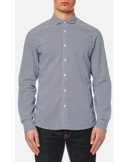 Men's Slim Long Sleeve Mk Collar Shirt