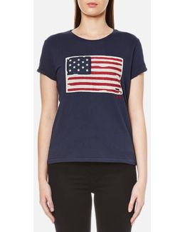 Women's Short Sleeve Flag Tshirt