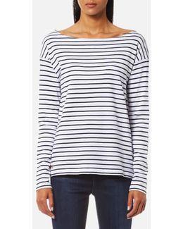 Women's Long Sleeve Boat Neck Top
