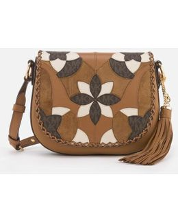 Women's Brooklyn Patchwork Medium Saddle Bag