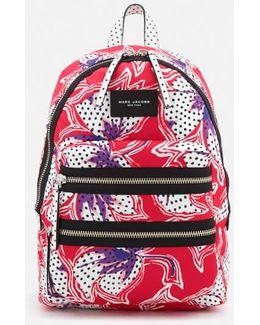 Women's Nylon Printed Backpack