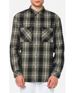 Black Calle Shadow Check Shirt