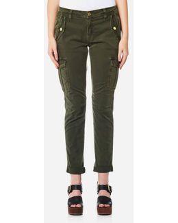 Women's Dye Cargo Trousers