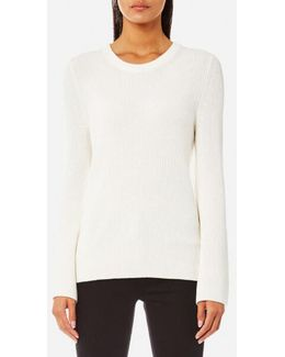 Women's Shaker Bell Sleeve Crew Neck Jumper