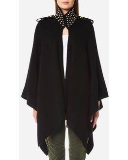 Women's Stud Collar Cape