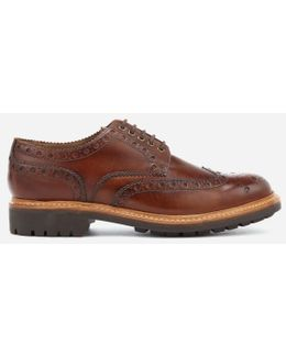 Men's Archie Hand Painted Leather Commando Sole Brogues