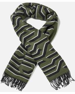 Women's Geotiger Wool Scarf