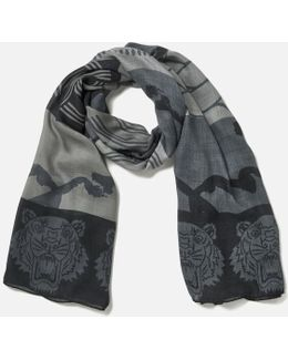 Women's High End Icons Multi Logo Stole Scarf