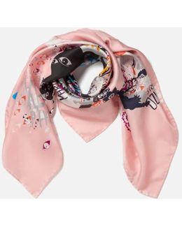 Women's Multi Icons Iconics Swarm Silk Scarf
