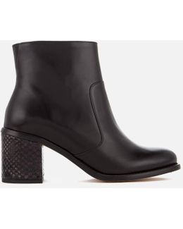 Women's Luna Leather Heeled Ankle Boots