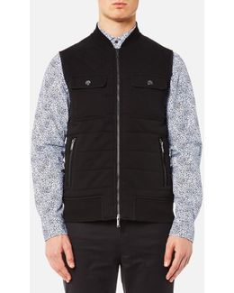 Men's Quilted Knitted Vest