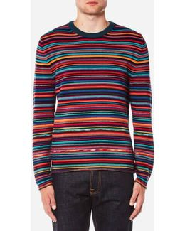 Men's All Over Stripe Knitted Jumper