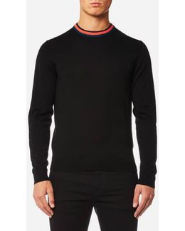 Men's Collar Detail Knitted Jumper