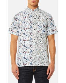 Men's Cut Up Floral Short Sleeve Shirt