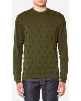 Men's Circle Pattern Crew Neck Knitted Jumper