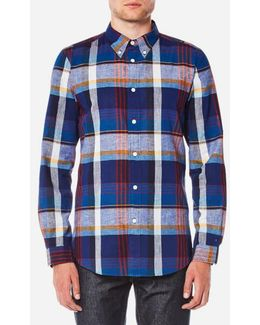 Men's Tailored Fit Check Long Sleeve Shirt