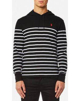 Men's Hooded Tshirt Stripe Hoody