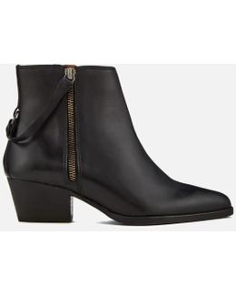 Women's Larry Leather Heeled Ankle Boots
