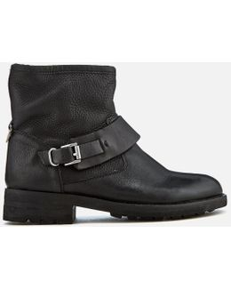 Women's Mac Leather Biker Boots
