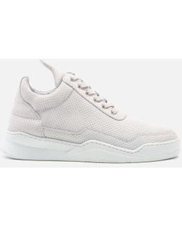 Women's Ghost Perforated Suede Low Top Trainers