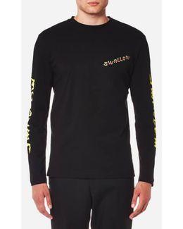 Men's Electric Swallow Long Sleeve Tshirt