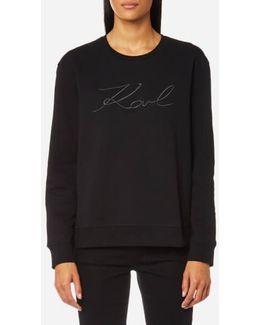 Women's Karl Pleated Effect Sweatshirt