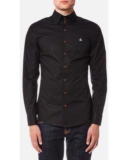 Men's Stretch Poplin Krall Three Button Shirt