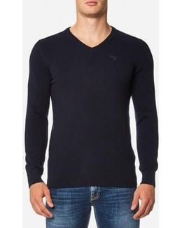 Essential Lambswool V Neck Knitted Jumper