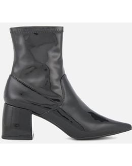 Women's Simone Patent Leather Heeled Boots