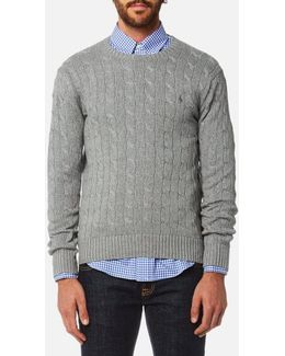 Men's Cotton Cable Knitted Jumper