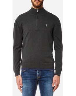 Men's Cotton Half Zip Jumper
