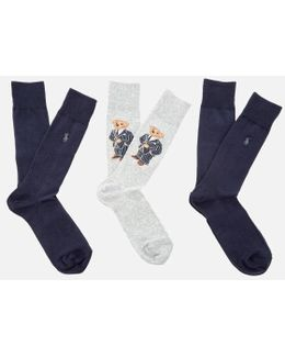 Men's 3 Pack Bear Socks