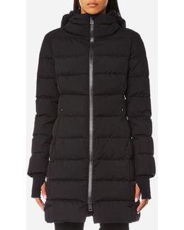 Women's Woven Half Down Coat