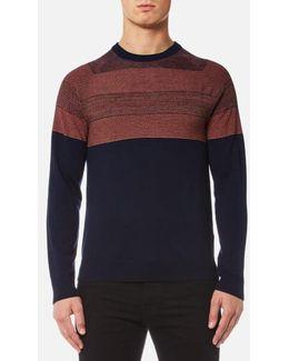 Men's Contrast Shoulder Knitted Jumper