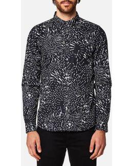 Men's Lightning Print Long Sleeve Shirt