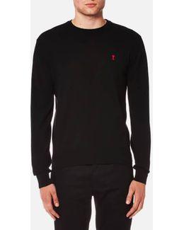 Men's Crew Neck Heart Logo Sweater