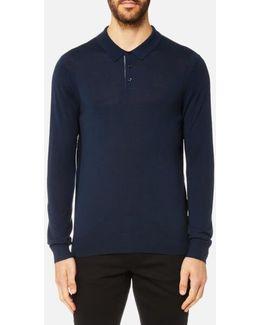 Men's Merino Long Sleeve Polo Shirt