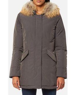 Women's Luxury Arctic Raccoon Fur Parka
