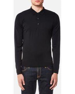 Belper 30 Gauge Merino Long Sleeve Polo Shirt