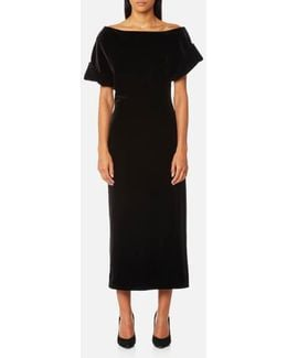 Women's Stretch Velvet Dress