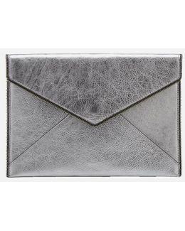 Women's Leo Metallic Clutch Bag