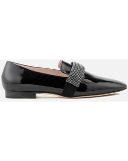 Women's Crystal Band Loafers