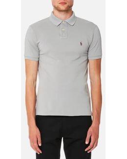 Men's Weathered Mesh Short Sleeve Polo Shirt